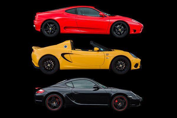 Ferrari, Lotus, Porsche